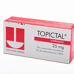 Topictal 25 mg 28 comprimidos