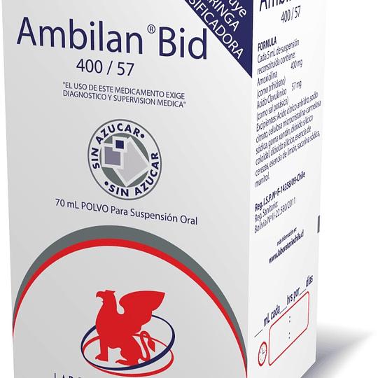Ambilan Bid 400 / 57 mg suspension 70 ml