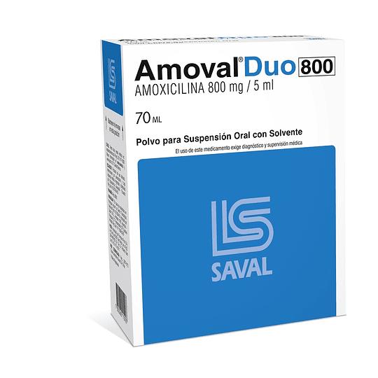 Amoval Duo 800 mg / 5 ml suspensión 70 ml