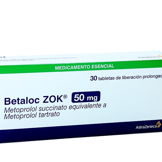Betaloc Zok 50 mg 30 comprimidos