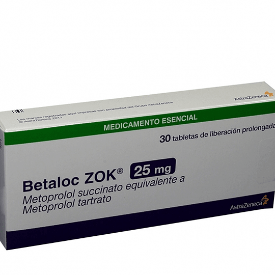 Betaloc Zok 25 mg 30 Comprimidos