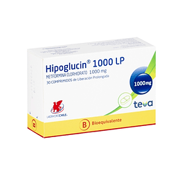 Hipoglucin LP 1000 mg 30 comprimidos
