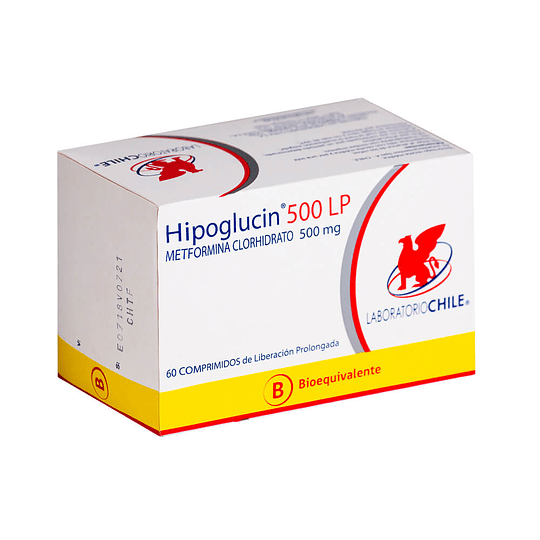 Hipoglucin LP 500 mg 60 comprimidos