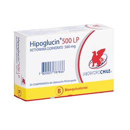 Hipoglucin LP 500 mg 30 comprimidos
