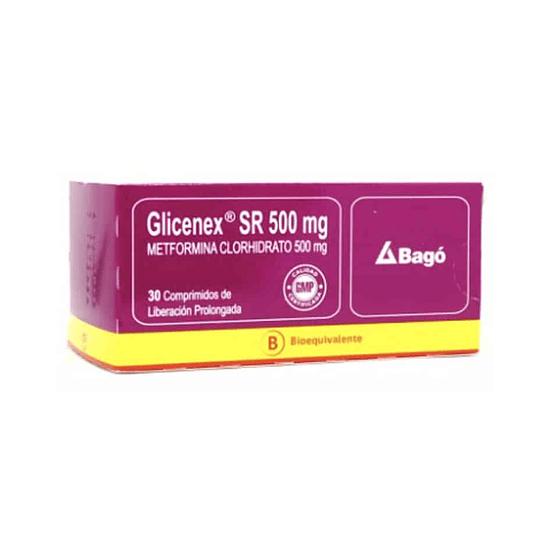 Glicenex SR 500 mg 30 Comprimidos