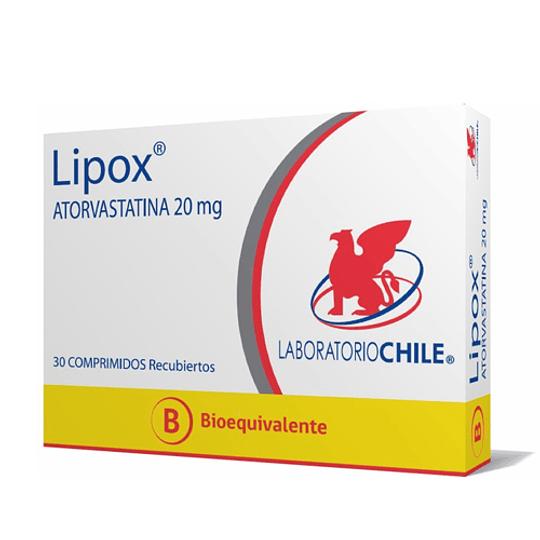 Lipox 20 mg  30 comprimidos