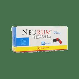 Neurum 75 mg  40 cápsulas