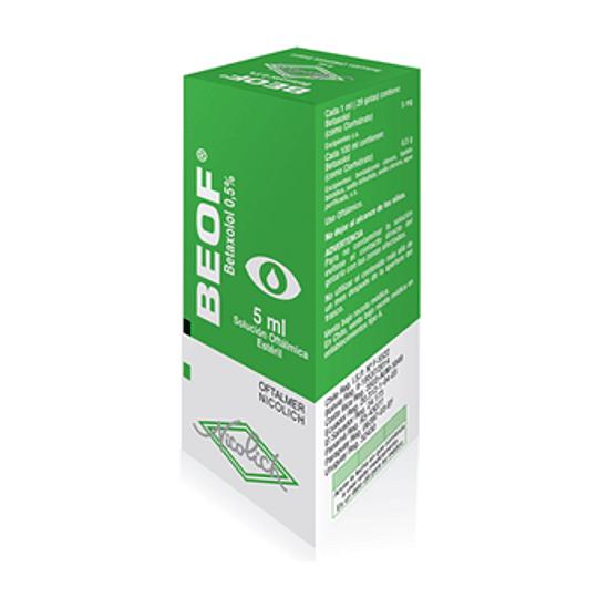 Beof  0,5 % solución  oftálmica 5 ml