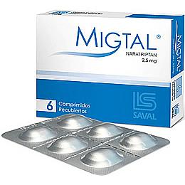 Migtal 2,5 mg 6 comprimidos