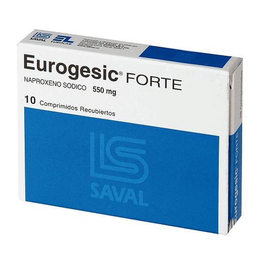 Eurogesic Forte 550 mg 10 comprimidos