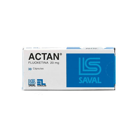 Actan 20 mg 30 cápsulas