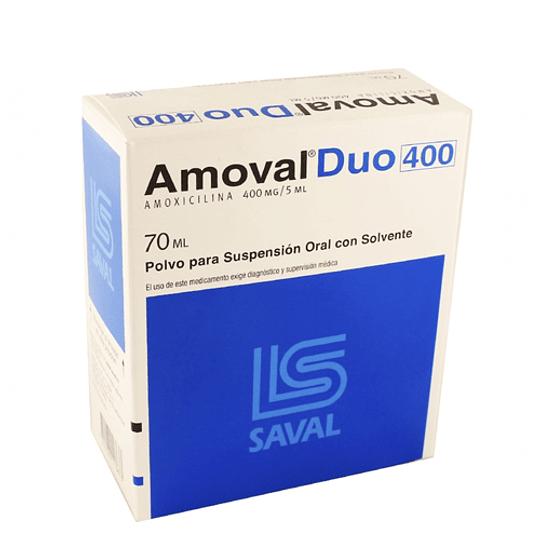 Amoval  Duo 400 mg / 5 ml suspensión 70ml