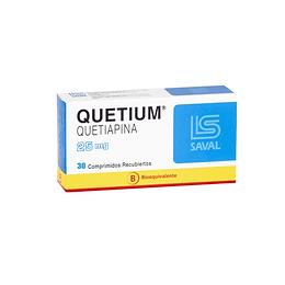 Quetium 25 mg 30 comprimidos