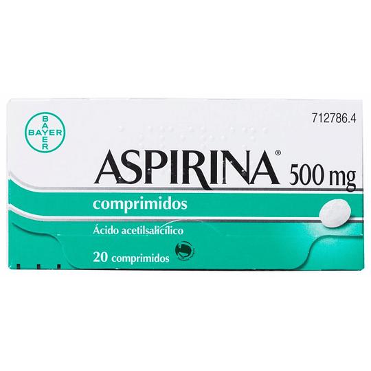 Aspirina 500mg por 20 comprimidos