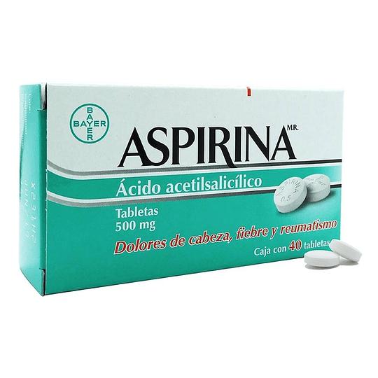Aspirina 500 mg por 40 comprimidos