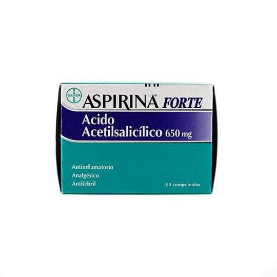 Aspirina Forte 650 mg por 80 Comprimidos