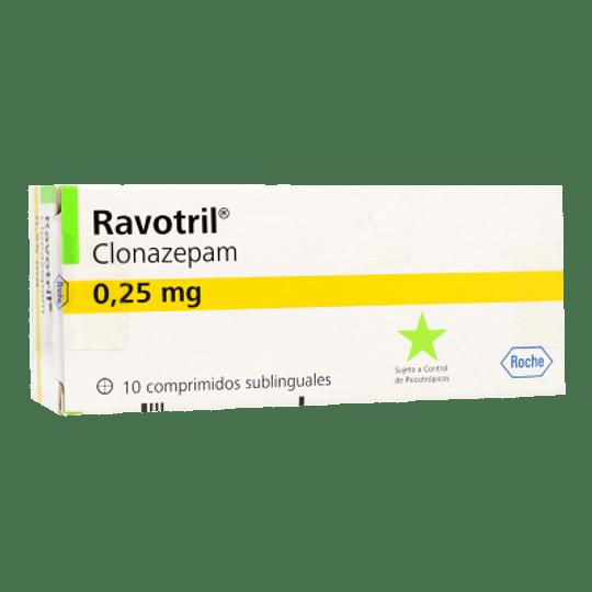 Ravotril 0,25 mg 10 comprimidos sublingual