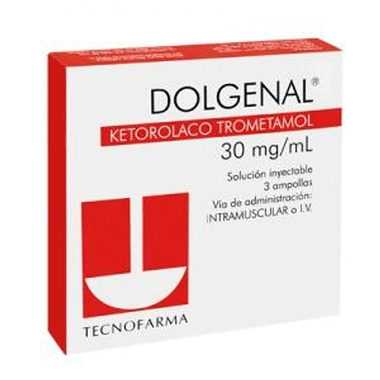 Dolgenal 30 mg 3 ampollas