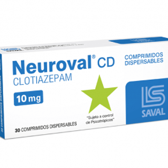 Neuroval CD 10 mg 30 comprimidos