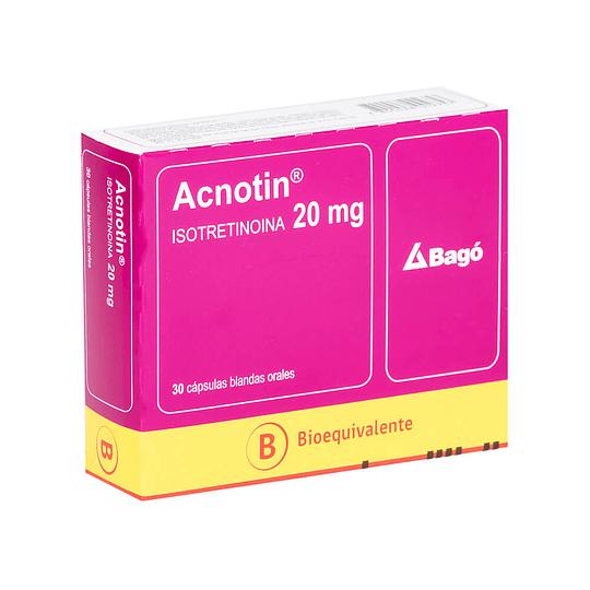 Acnotin 20 mg, 30 cápsulas blandas