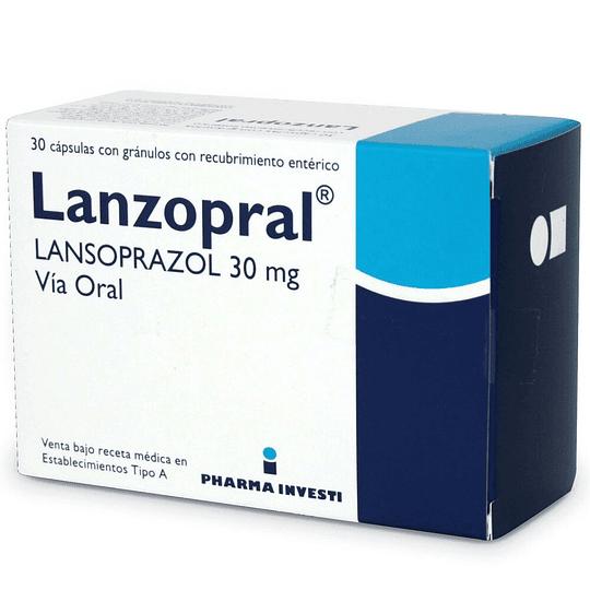 Lanzopral 30 mg 30 cápsulas