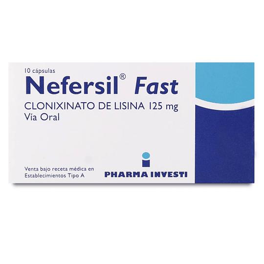 Nefersil Fast 125 mg 10 cápsulas