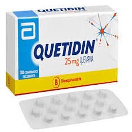 Quetidin 25 mg 30 comprimidos.