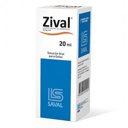 Zival 5 mg / ml Gotas 20 ml