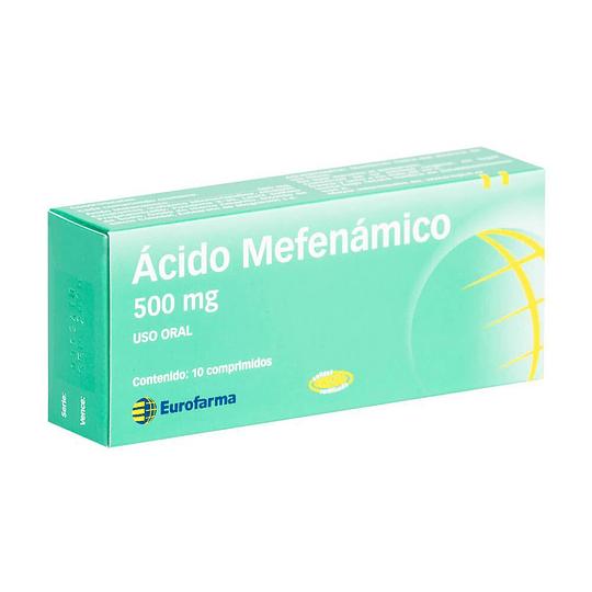 Ácido Mefenámico 500 mg por 10 comprimidos