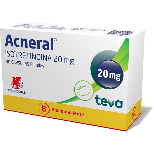 Acneral 20 mg por 30 cápsulas
