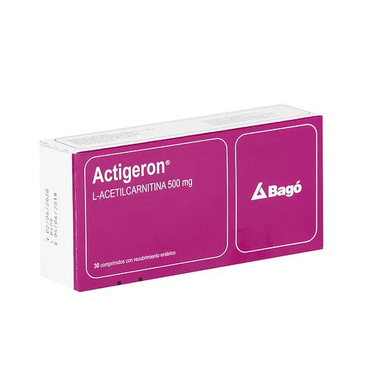 Actigeron 500 mg 30 comprimidos