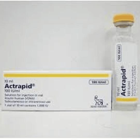 Actrapid Solución Inyectable Ampolla 100IU /ml por 1