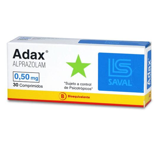 Adax 0,5 mg 30 comprimidos