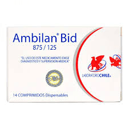 Ambilan Bid 874 / 125 mg, 14 comprimidos