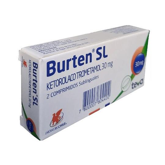 Burten SL 30 mg, 2 comprimidos sublinguales