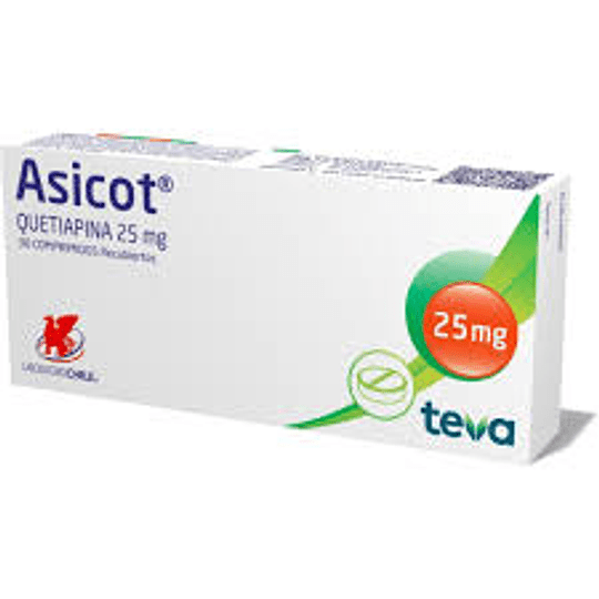 Asicot 25 mg 30 comprimidos
