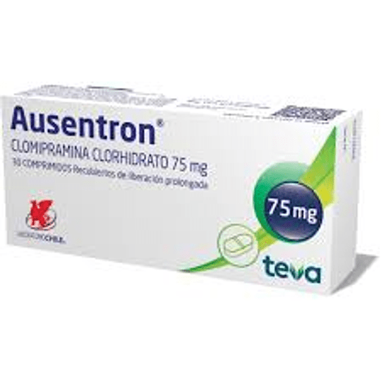 Ausentron 75 mg 30 comprimidos