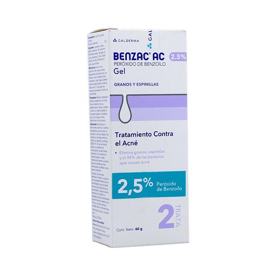 Benzac-AC Gel 2,5% 60 gramos