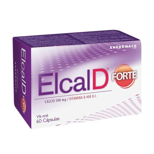 Elcal D Forte 450 mg + Vitamina D 60 cápsulas