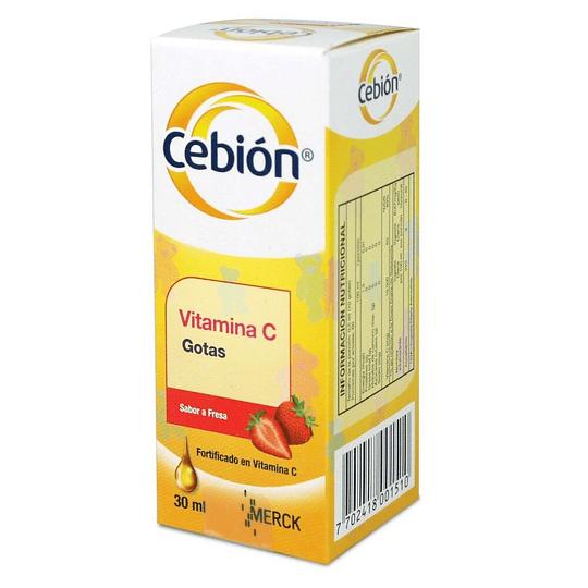 Cebion Fresa 100 mg gotas 30 ml