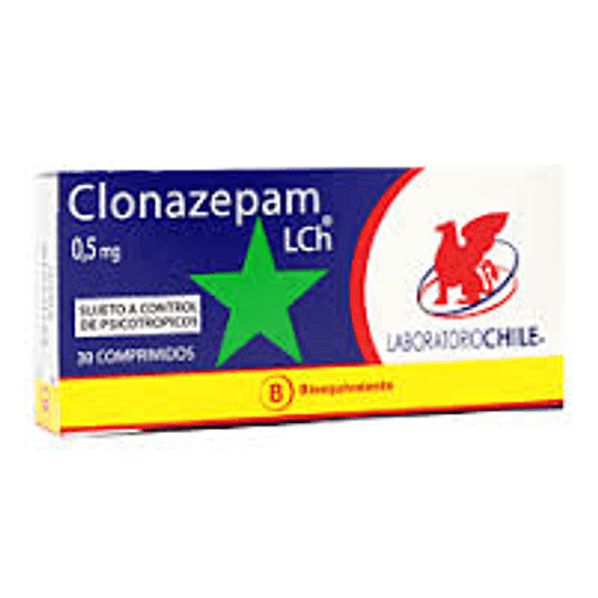 Clonazepam 0,5 mg 30 comprimidos