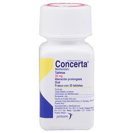Concerta 36 mg 30 tabletas