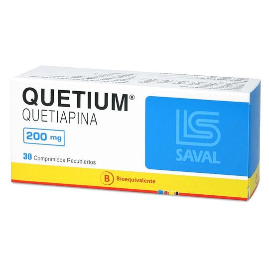 Quetium 200 mg 30 comprimidos