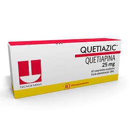 Quetiazic 25 mg 60 comprimidos