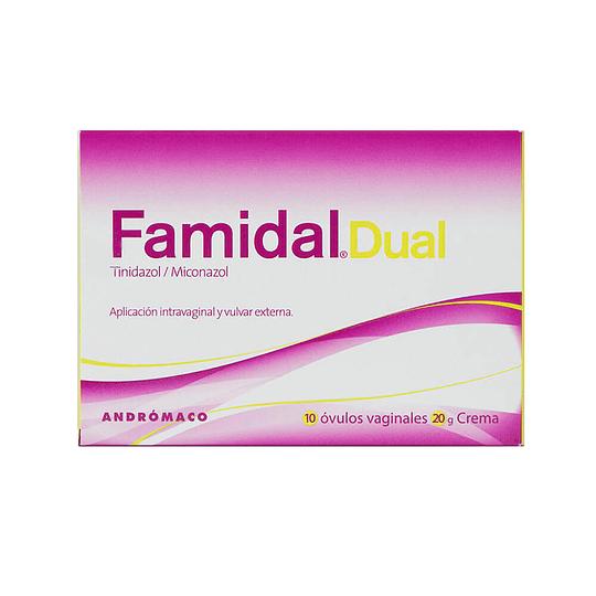 Famidal Dual 10 óvulos crema 20 gramos