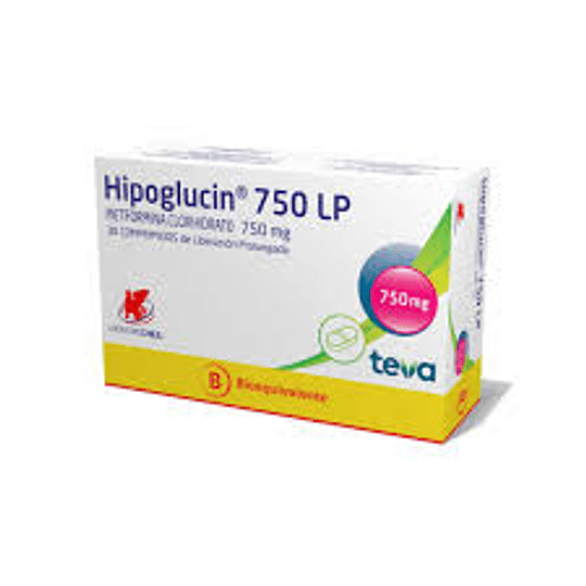 Hipoglucin LP 750 mg 60 comprimidos