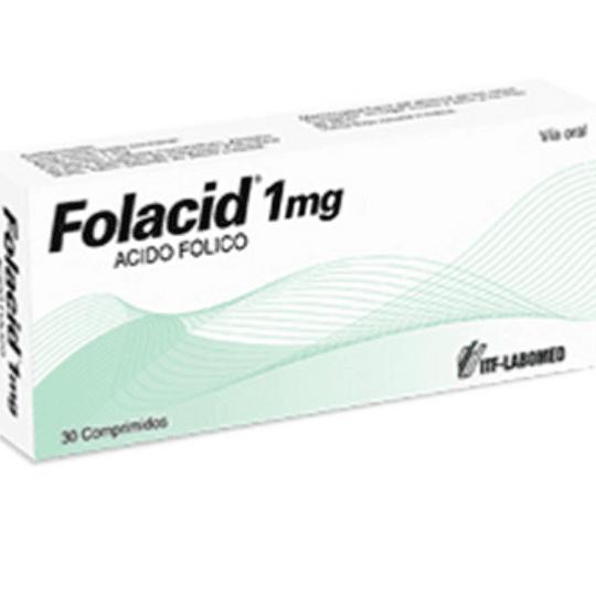 Folacid 1 mg 30 comprimidos