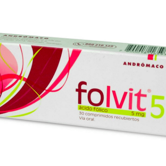 Folvit 5 mg 30 comprimidos