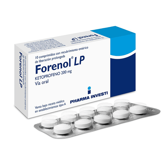 Forenol LP 200 mg 10 comprimidos