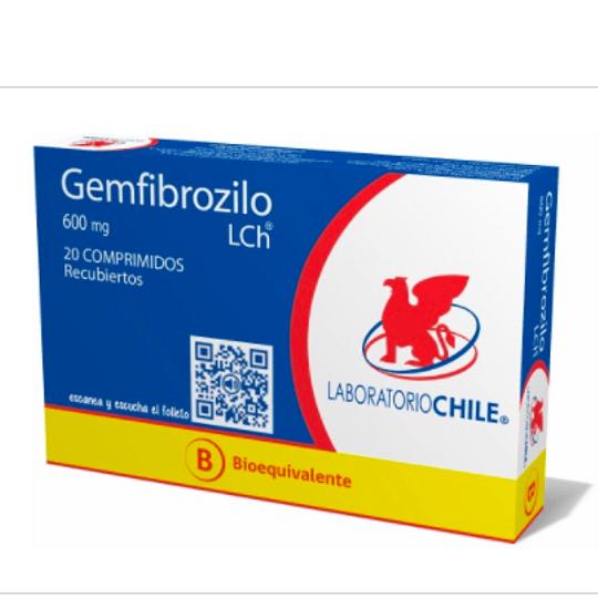Gemfibrozilo 600 mg 20 comprimidos